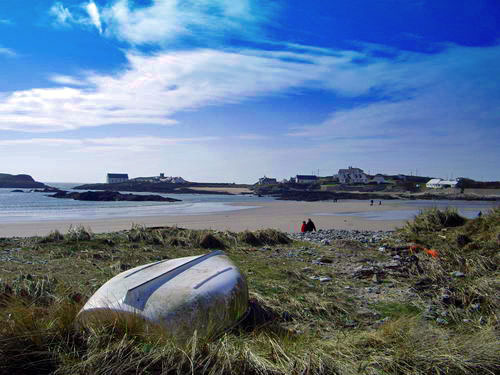 Boat at Rhoscolyn Beach