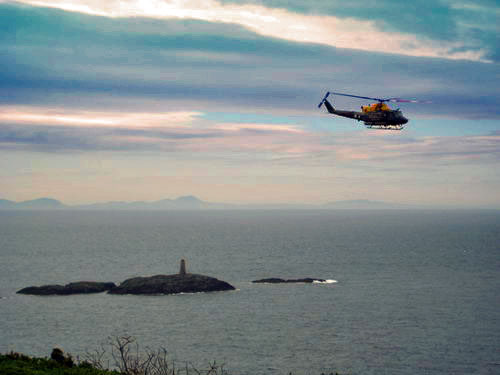 Helicopter at Rhoscolyn coast1